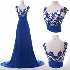 Formal Long Ball Gown Party Prom Bridesmaid Evening Dress APPLIQUE Stock UK 6-20