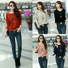 Women Popular Knitted Batwing Hollow Jumper Loose Pullover Casual Tops Sweater J
