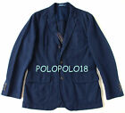 New $295 Polo Ralph Lauren Blazer Sportcoat Jacket Cotton Linen Navy 40R 42L