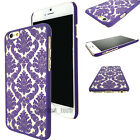 Rubberized Damask Vintage Clear Hard Case Cover For iPhone 6S 6 Plus 5 5S