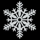 "SILVER GLITTER SNOWFLAKE DECORATION 11"" PLASTIC HANGING CHRISTMAS DECORATIONS"