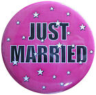 Just Married Badge - Just Divorced Badge. 45mm 58mm 75mm Party badges