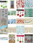 HANGING SWIRL AND STRING XMAS PARTY CEILING DECORATIONS CHRISTMAS DOOR DANGLERS