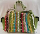 MULTI COLOR STUDDED FRINGE Organizing Shoulder Bag Purse Handbag