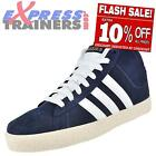 Adidas Mens BB Neo ST Daily Mid Top Suede Leather Trainers Navy * AUTHENTIC *