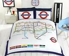 London Underground Bedding Duvet Cover Tube Map UK Reversible Single Double King