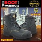 Oliver Work Boots 55245z, Zip Side,'Black' Steel Toe Cap Safety. ORIGINAL STYLE