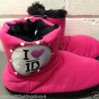 New One Direction 1D girls pink fur lined slippers boots