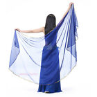 New Belly Dance Veil Gold Edge Chiffon Semicircle Scarf Shawl Veil 12 colors