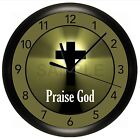 CROSS WALL CLOCK BIBLE VERSE PROVERBS 3:6 CHOOSE ANY TEXT OR SCRIPTURE RELIGIOUS