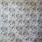 FFA-106 FLORAL ON WHITE COTTON LINEN CANVAS UPHOLSETERY FABRIC BY 0.5 Yard