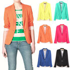 Fashion OL Women Casual Candy Color Blazer Suit Jacket Coat Trench Coat Outwear