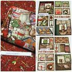 HOT CHOCOLATE FABRIC COLLECTION~4 DESIGNS~PANELS~1/2 YDS~CHRISTMAS~FOOD