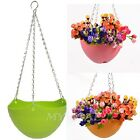 Plastic Hanging Flower Pot Chain Planter Basket Garden Flexible Home Decoration