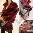 New Women Warmer Blanket Plaid Cashmere Cozy Loop Scarf Shawl Pashmina Oversized