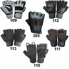 WEIGHT LIFTING PADDED GLOVES TRAINING BODY FITNESS BUILDING LONG STRAPS - WL-109
