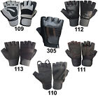 WEIGHT LIFTING PADDED GLOVES TRAINING BODY FITNESS BUILDING LONG STRAPS