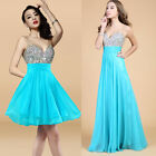 CHIC Long/Short Beaded Cocktail Party Prom Ball Gown Evening Bridesmaid Dresses
