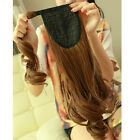 95g MAGIC TAPE Clip In Wrap Around Ponytail Hair Extension Piece Straight/curly