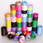 5YARDS 10mm 16mm 25mm 38mm solid grosgrain ribbon 30 colors u pick hairbow bow