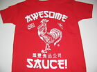New Sriracha hot sauce shirt boys sizes XS-XXL Awesome Sauce Sriracha shirt