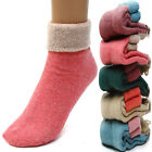 New 5 Pairs Womens Winter Warmly Casual Candy Color Thick Knit Wool Towel Socks