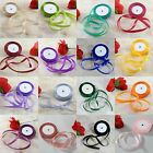 25 Yards 1/2/4/5cm Satin Ribbon for Wedding Party Decoration Sewing DIY Craft