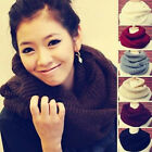 Warm Women Winter Infinity 2 Circle Cable Knit Cowl Neck Long Scarf Shawl 8Color