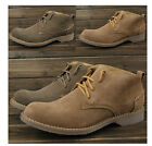 Womens Punk Suede Luxury Lace Up RETRO British Flat desert Combat Ankle Boots