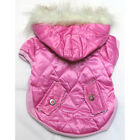 974 S~L Pink Faux Fur Hoodie Padded Coat Jacket /Dog Clothes Dress Sweater -N