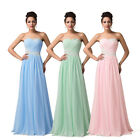 Cheap~ Chiffon Evening Formal Bridesmaid Pageant Gown Prom Party Dress ALL SIZE