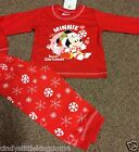 New Disney Minnie Mouse Christmas Xmas baby pyjamas nightwear sleepwear