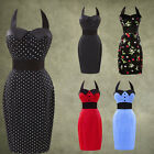 VINTAGE Polka dot 20's 60's HOUSEWIFE HOUSEWIFE WEDDING PROM GOWN Cocktail Dress