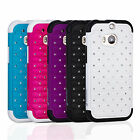 New Heavy Duty Hard Soft Hybrid Bling Diamond Case Cover for HTC One M8 2014