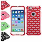 Brick Pattern GloCase Hybrid Armor Cover Case For Apple iPhone 6 4.7 Inches