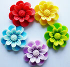 LARGE FLOWER FLAT BACK RESIN CABOCHONS 39mm 2 or 5 Mixed