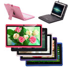 "Multi-Color iRulu Tablet PC 7"" Android 4.4.2 Quad Core HD Dual Cam w/ Keyboard"