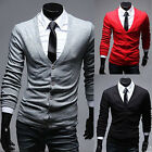 New Casual Men Cozy Slim Fit Cotton Knit Sweater Cardigan Deep V Neck Coat UK EW