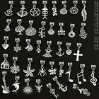 Tibetan Dangle Charm Beads Mix Lot Silver Fit European Bracelet Bails  Pendants