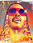 STEVIE WONDER colorful painting splash crazy stevie classic photo glossy t-shirt