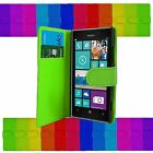 WALLET PU LEATHER CASE HOLDER FOR NOKIA LUMIA 925 VARIOUS COLOURS MAGNETIC CATCH