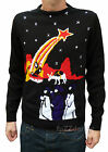 Christmas Xmas JUMPER vtg indie retro 80's Nativity novelty Jesus Kitsch Ugly