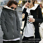 New Women's Winter Warm Fleece Basic Coat Hooded Jacket Sweater Parka Outwear