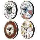 Wooden Wall Clock Digital Vintage Rustic Shabby Chic Home Kitchen Office Gift