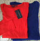 NWT Ralph Lauren T-shirt poppy blue women shirt long sleeve pony orange