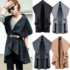 Hot Womens Batwing Cape Poncho Top Jacket Cardigan Sleeveless Outwear Coats