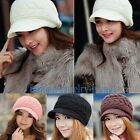 2014 New Winter Beanie Knit Crochet Hats Cap Warm Rabbit Fur Various colors