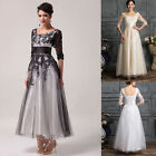 Mother Of The Bride Vintage Lace Half Sleeve Wedding Evening Long MAXI Dresses 1