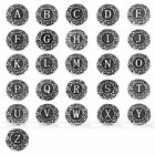 Vintage Alphabet Letter A-Z Craft Bead Clip Snap Button For Bracelet Bangle DIY