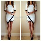 Sexy Women Evening Gown Short Sleeve Prom Ball Cocktail Party Dress Formal Dress